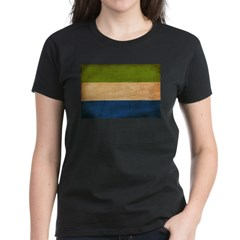 Sierra Leone Flag Women's Dark T-Shirt