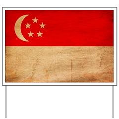 Singapore Flag Yard Sign