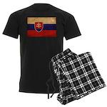 Slovakia Flag Men's Dark Pajamas