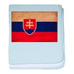 Slovakia Flag baby blanket