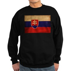 Slovakia Flag Sweatshirt (dark)