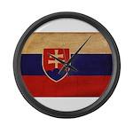 Slovakia Flag Large Wall Clock
