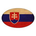 Slovakia Flag Sticker (Oval 10 pk)