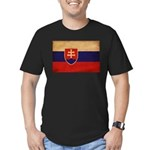 Slovakia Flag Men's Fitted T-Shirt (dark)