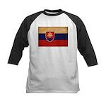 Slovakia Flag Kids Baseball Jersey