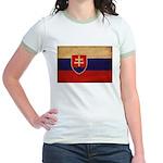 Slovakia Flag Jr. Ringer T-Shirt