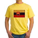 Slovakia Flag Yellow T-Shirt