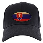 Slovakia Flag Black Cap