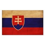 Slovakia Flag Sticker (Rectangle)