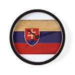 Slovakia Flag Wall Clock