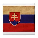 Slovakia Flag Tile Coaster