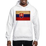 Slovakia Flag Hooded Sweatshirt