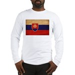 Slovakia Flag Long Sleeve T-Shirt