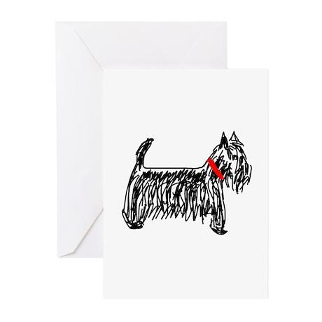 Scottish Terrier   Scottie Greeting Cards (Pk of 2