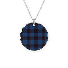 Tartan - Home Necklace Circle Charm