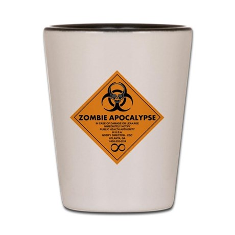 ZOMBIE APOCALYPSE Shot Glass