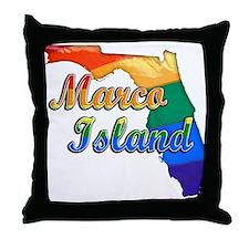 Marco Island, Florida, Gay Pride, Throw Pillow