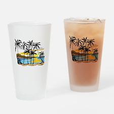 Beautiful Beach Drinking Glass