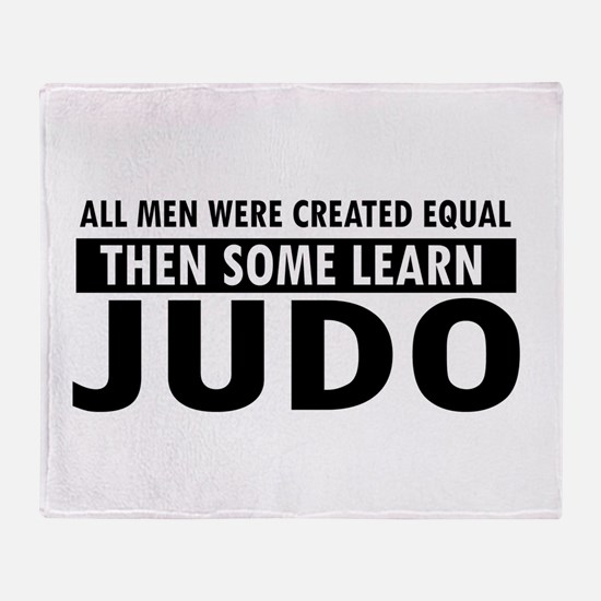 Judo design Throw Blanket