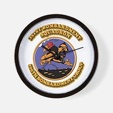 Army - Air - Corps - 351st BS - 100th BG Wall Cloc