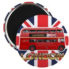 Red Bus Magnet
