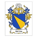 Van Loo Coat of Arms Small Poster