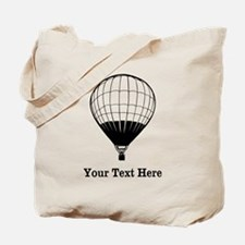Hot Air Balloon and Text. Tote Bag