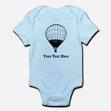 Hot Air Balloon and Text. Infant Bodysuit