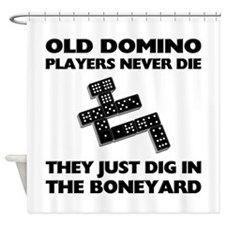 Domino Players Never Die Shower Curtain