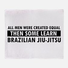 Brazilian Jiu-Jitsu design Throw Blanket