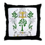 Van der Linde Coat of Arms Throw Pillow