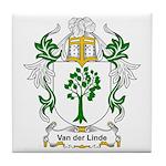 Van der Linde Coat of Arms Tile Coaster