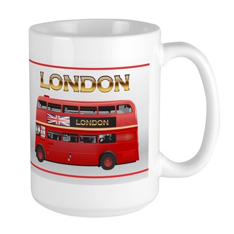 Red Bus Large Mug