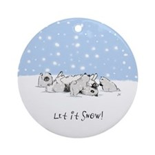 Keesie Snow Dogs Ornament
