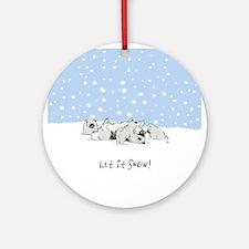 Keesie Snow Dogs Ornament