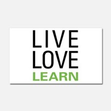 Live Love Learn Car Magnet 20 x 12
