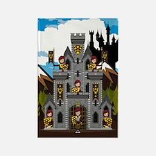 Medieval Knights & Castle Magnet