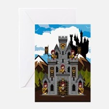 Medieval Knights & Castle Greeting Card