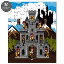 Medieval Crusader Knights & Castle Puzzle