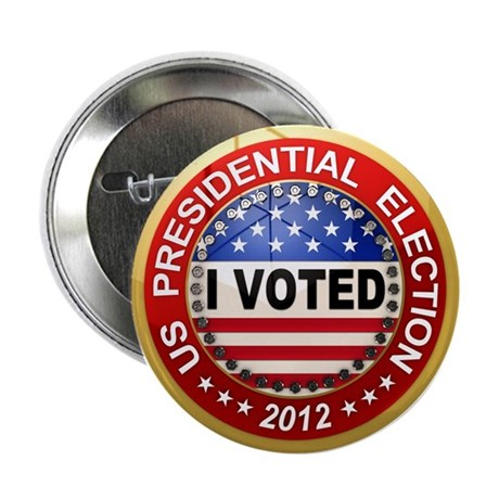 "Presidential Election - I voted 2.25"" Button"