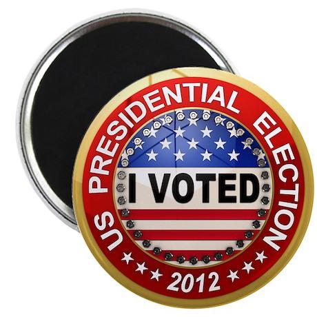 "Presidential Election - I voted 2.25"" Magnet (100"