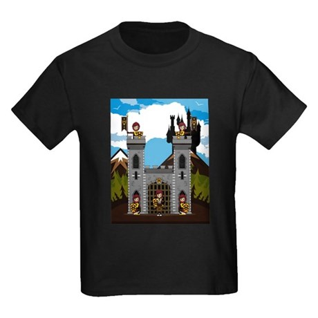 Medieval Knights & Castle Kids Dark T-Shirt