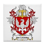 Van Leusden Coat of Arms Tile Coaster