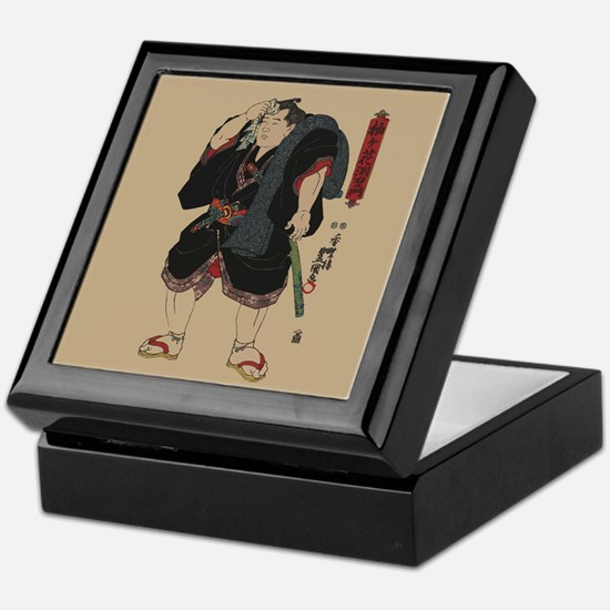 Sumo wrestler Somagahana Fuchiemon Keepsake Box