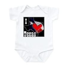 I Love Texas Infant Creeper