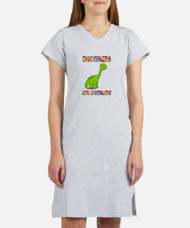 Awesome Dinosaurs Women's Nightshirt