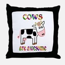 Awesome Cows Throw Pillow