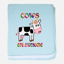 Awesome Cows baby blanket