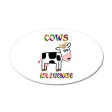 Awesome Cows 22x14 Oval Wall Peel