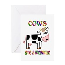 Awesome Cows Greeting Card